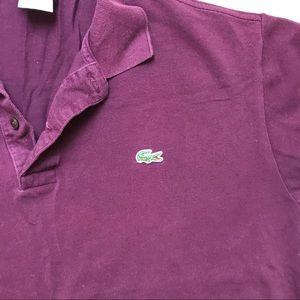 Lacoste Shirts - EUC Men's burgundy Lacoste polo